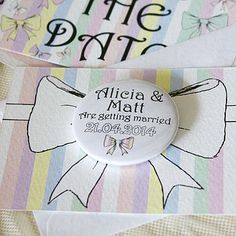Personalised Mini Magnet Bow Save The Dates