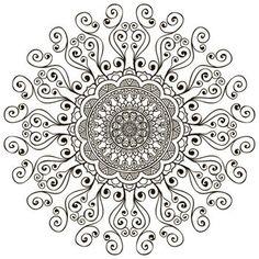 Fond Mandala. Vintage �l�ments d�coratifs. Main fond dessin�e photo