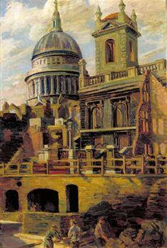 St Paul's, 1941, Duncan Grant, Imperial War Museum ART LD1844