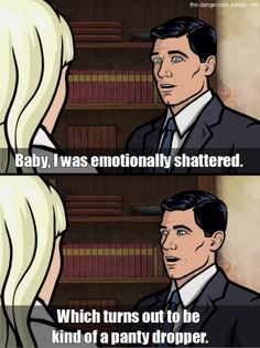 """23 Of Sterling Archer's Funniest Lines On """"Archer"""" Archer Show, Archer Fx, Funny Cute, Hilarious, Lmfao Funny, Archer Funny, Sterling Archer, Classic Quotes, Danger Zone"""