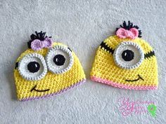 Girl Crochet Minion Hat