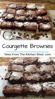 Brownie Recipes, Chocolate Recipes, Cookie Recipes, Dessert Recipes, Courgette Cake Recipe, Chocolate Courgette Cake, Veggie Cakes, Vegetable Cake, Delicious Desserts
