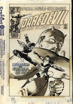 Daredevil 181 cover by Frank Miller and Klaus Janson, Comic Book Pages, Comic Book Artists, Comic Book Covers, Comic Book Characters, Comic Artist, Marvel Characters, Frank Miller Daredevil, Daredevil Art, Daredevil Yellow
