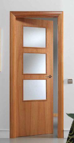 PUERTA House Main Door Design, Flush Door Design, Sliding Door Design, Wooden Door Design, Front Door Design, Wooden Doors, House Design, Internal Door Frames, Flush Doors