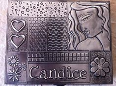 Personalized earring box by Amanda Stein designs