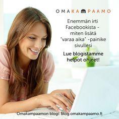 """Enemmän irti Facebookista - miten lisätä """"varaa aika"""" -painike sivullesi Lue blogistamme helpot ohjeet! #omakampaamo #facebook #fb #toimintopainike #blogi #bloggailu #follow #followus #salonki #kampaaja #kosmetologi #kynsitaiteilija #hiukset #kynnet #some #palvelu #huippupalvelu Katso lisää osoitteessa www.omakampaamo.fi"""