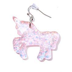 Call It Magic Glitter Earrings (€11) ❤ liked on Polyvore featuring jewelry, earrings, unicorn earrings, star earrings, glitter earrings, hook earrings and unicorn jewelry