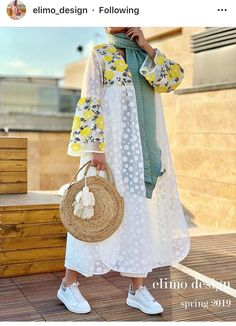 Street Hijab Fashion, Abaya Fashion, Muslim Fashion, Kimono Fashion, Modest Fashion, Fashion Dresses, Fashion Shirts, Iranian Women Fashion, Womens Fashion