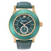 Swarovski Octea Classica Emerald Rose Gold Tone Reloj