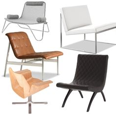 You really can't beat chairs by Charles Pollack. Stylish, chic, and in an awesome variety of colors and shapes. Barcelona Chair, Lounge Chairs, Outdoor Furniture, Outdoor Decor, Sun Lounger, Future House, Furniture Design, Couch, Shapes