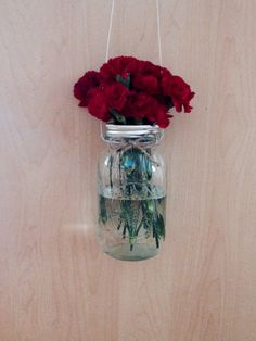 Hanging jar lantern by CountryCliche on Etsy