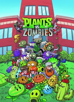 Zomboss's crime-filled college years are revealed! Nate, Patrice, and Crazy Dave investigate a strange college campus to keep the streets safe from zombies. Paul Tobin and Ron Chan join forces wit Adobe Illustrator, Plantas Versus Zombies, P Vs Z, Zombie Wallpaper, Dinosaur Birthday Cakes, Zombie Monster, Notebook Art, Free Plants, Adventure Time Anime
