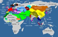 Political map of the world in 820.