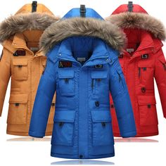 >> Click to Buy << 2017 New Arrive Winter Down Jacket Boy Thick Long  Hooded Winter Sport Windproof  Children Down Down & Parkas 8-16 years #Affiliate
