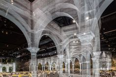 Gallery of Wire Mesh Installation Features Architectural Fragments Constructed At 1:1 - 1