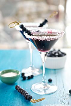 Blueberry Martini Cocktails