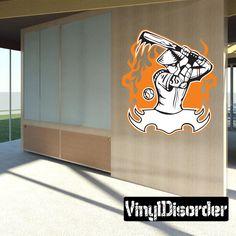 Baseball Wall Decal - Vinyl Sticker - Car Sticker - Die Cut Sticker - SMcolor025