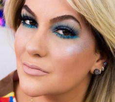 Dica de maquiagem de Alice Salazar em  tons azuis e pele iluminada, para ficar pronta para o bloquinho nesse carnaval!