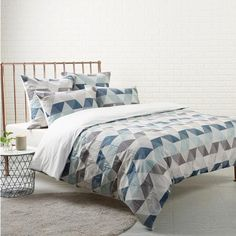 Granda Blue Quiltcover Set By Bigsleep Quilt Cover Set
