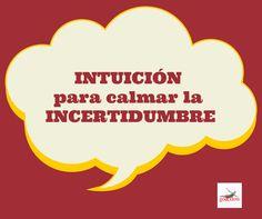 #intuition to calm down uncertainty Read here the Go&FlowBlog #Intuición para calmar la #Incertidumbre http://www.goandflow.es/intuicion-para-calmar-la-incertidumbre/ Mas? Aquí  puedes comprar el libro de autoayuda #delamoralazeta http://www.goandflow.es/#home-2