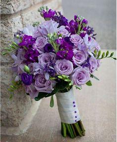 Shades of purple....perfect for a wedding bouquet with blue & sand as your backdrop #beach #wedding #destinationweddingdivas