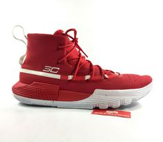decf7136a8e1 New UNDER ARMOUR SC 3ZERO II MENS 20613600 Stephen Curry Shoes Red White c1  -