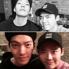 Lee Jong Suk actualizo su cuenta de Instagram con esta foto junto a su gran amigo #KIMWOOBIN  (15/Diciembre/ 16)