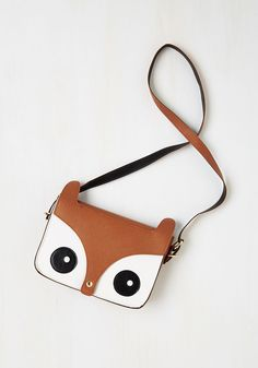 Critter Me Timbers Bag in Brown. Youre awe about statement-making accessories, and this wildly stylish owl bag offers plenty to talk - or hoot - about! #brown #modcloth