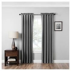 Experience the darkness, silence and beauty of Eclipse™ Miles window curtain panel. Eclipse blackout panels have been laboratory-tested to block out over 99% of intrusive light, unwanted noise and can help you save on home heating and cooling costs. Eclipse curtains offer a unique blend of fashion and function for any home décor. The magic is in the Thermaback™ construction. The innovative foam-backing is applied to the fabric and allows you to enjoy all of the ligh...