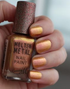 Gold Rush Barry M, Chrome Nails, Nail Polish Collection, Gold Rush, Metals, Lips, Costume, Collections, Beauty