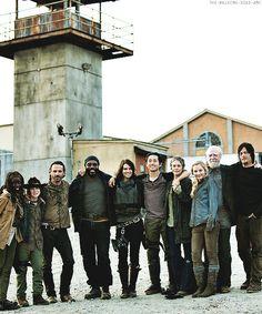 The Walking Dead cast - season 4 wrap