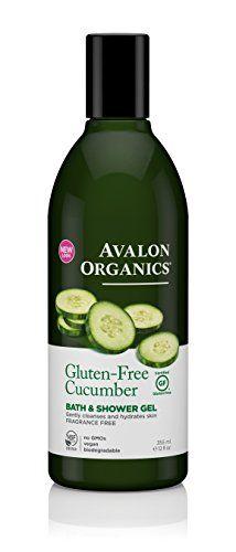 Avalon Organics Bath  Shower Gel Gluten Free Cucumber 12 Fluid Ounce >>> Visit the image link more details.