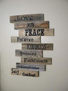 Wood Sign, Pallet Sign, Pallet Art, Fruits of the Spirit, Scripture Art, Wall Decor, Wood Plaque, Wedding Gift, Wooden Sign, Distressed Wood by Mattie Perch