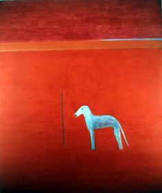 Craigie Aitchison. Dog in Red Painting, 1975