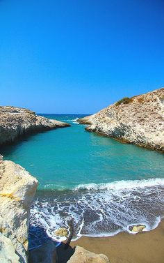 Papafragas Beach, Milos Island, Greece (by antonello.fardella on Flickr)