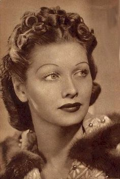 A young Lucille Ball, before she became a red-head