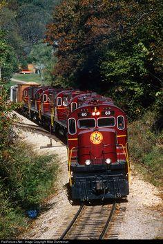 Arkansas & Missouri Railroad Alco C420 at Winslow, Arkansas by Mike Danneman