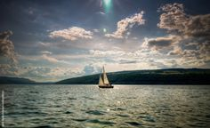 Large Photograph-Waterscape Sailboat on Keuka Lake home by GallagherLandscapes, $275.00
