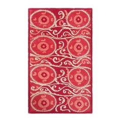 The Rug Market Camden Red Rectangular Indoor Tufted Area Rug (Common: 10 X 13; Actual: 10-Ft W X 13-Ft L)
