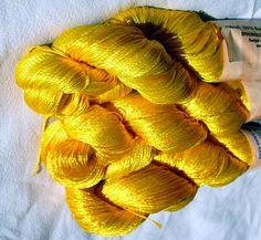 Viscose yarn Viscose Silk Yarn natural viscose yarn by HandyFamily, €6.20