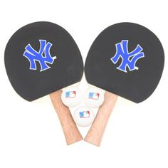 New York Yankees MLB Ping Pong Paddle and Ball Set (2 Paddles and 3 Balls)