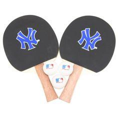 New York Yankees MLB Ping Pong Paddle and Ball Set (2 Paddles and 3 Balls)