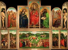 Jan Van Eyck The Ghent Altarpiece, , Church of St. Read more about the symbolism and interpretation of The Ghent Altarpiece by Jan Van Eyck. Jan Van Eyck, Ghent Altarpiece, Renaissance Kunst, Renaissance Time, Renaissance Artists, Italian Renaissance, Monument Men, Culture Art, Culture Club