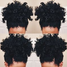 THICK Natural hair PONYTAIL http://www.shorthaircutsforblackwomen.com/curl-defining-products/ #houseofamerie #changewithmetoday #naturalhair