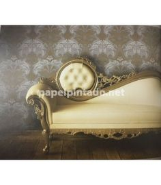 PAPEL PINTADO OBSESSION decoración y papel pintado Lounge, Couch, Furniture, Home Decor, Wall Papers, Paper Envelopes, Chair, Airport Lounge, Drawing Rooms