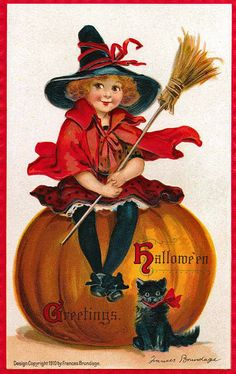 Halloween postcards freebie