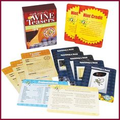 Search results for: 'products 97 Games 1492 Cork Jester's Wine Teasers Game' Wine Games, Wholesale Wine, Wine Education, Drinking Games, Wine Parties, Always Learning, Party Games, Teaser, Wines
