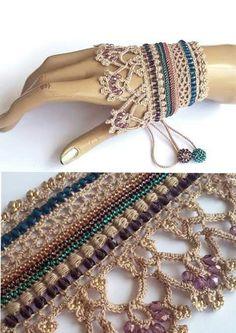 Crochet jewelry 541557923938907708 - bienvenue chez les petites mains: mai 2017 Source by yamiot Art Au Crochet, Freeform Crochet, Bead Crochet, Irish Crochet, Crochet Crafts, Crochet Stitches, Fabric Crafts, Crochet Projects, Crochet Patterns