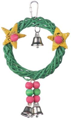 Super Bird Creations 8 by 6Inch Xmas Wreath Vine Swing Bird Toy Medium *** Details can be found by clicking on the image.Note:It is affiliate link to Amazon.