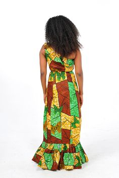 African Print One Shouder Maxi Dress by Bongolicious1 on Etsy, $69.99